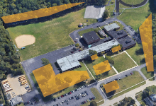 Aerial picture of Wickliffe High School