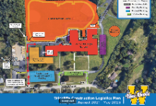 Graphic of the new campus construction site