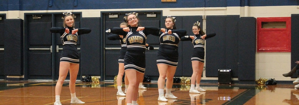 WHS Basketball Cheerleaders