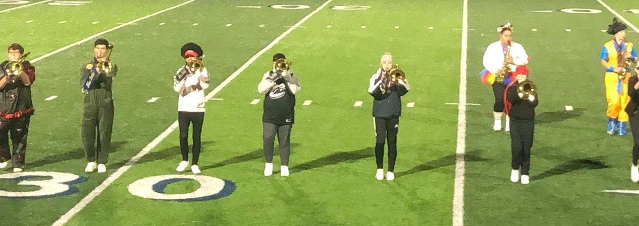 WHS Swing Band horn section