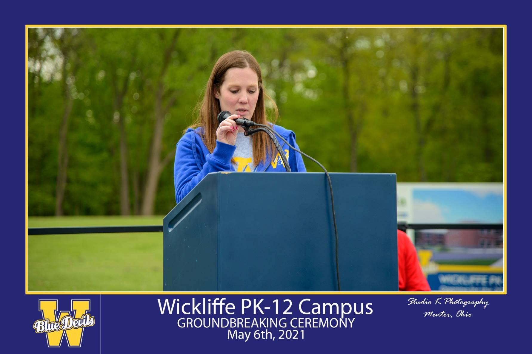 Wickliffe BOE President Speaking