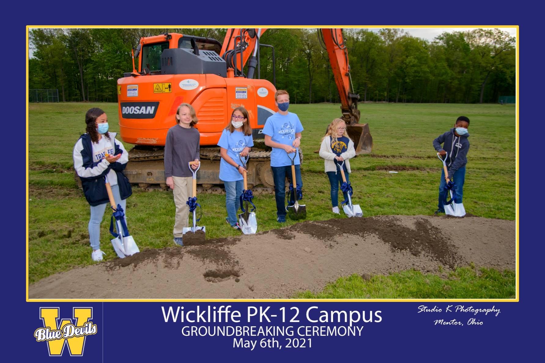 Wickliffe Students Breaking Ground
