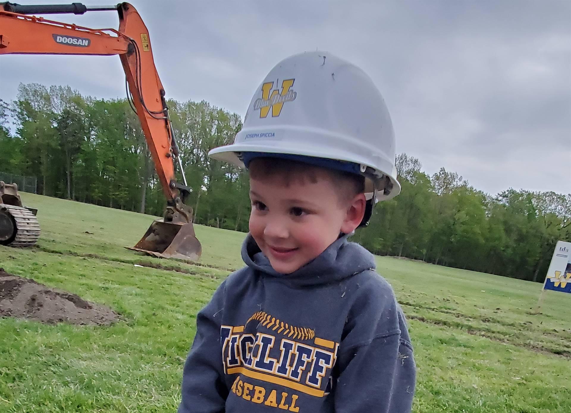 Little Boy at Groundbreaking