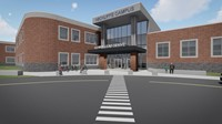 New campus entrance rendering